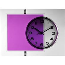 Film transparent couleur violet